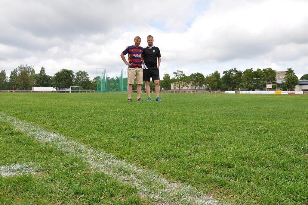 Kent Fagerström och Antti Kinnunen i dag. Foto: Mikael Heinrichs